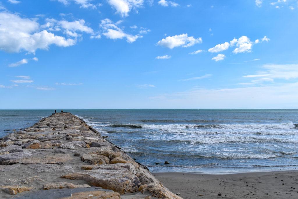 paysage de la digue à la mer