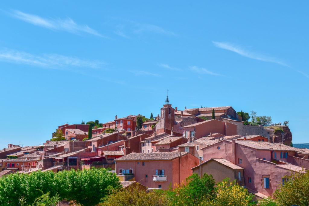 Panorama sur le village de Roussillon