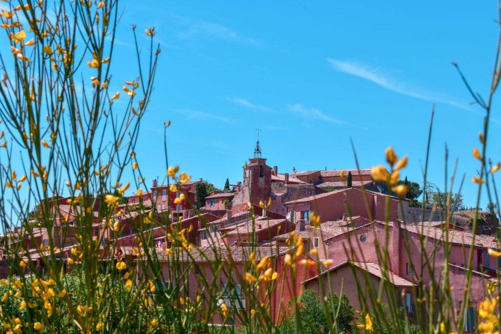 Panorama de la ville de Roussillon